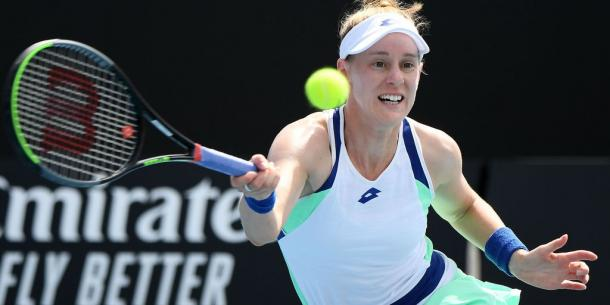 Riske is looking to cause another upset against the world number one/Photo: Quinn Rooney/Getty Images