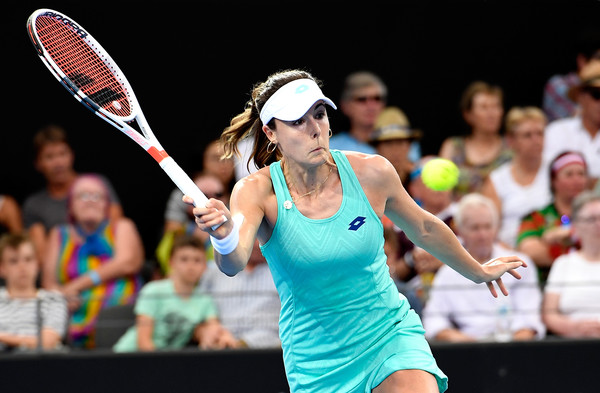 Alize Cornet in action during her first-round match against Garcia   Photo: Bradley Kanaris/Getty Images AsiaPac