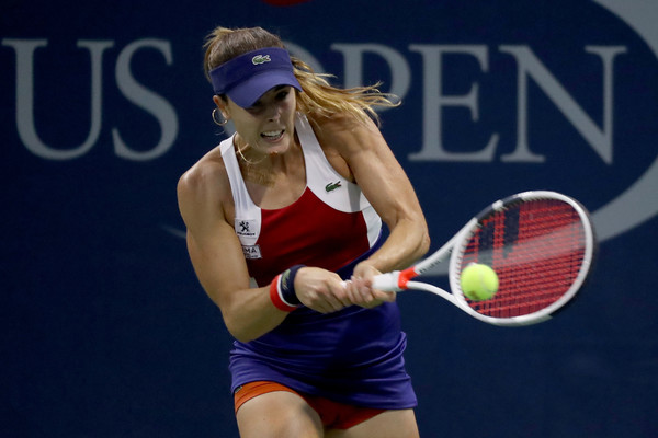 Alize Cornet in action at the US Open | Photo: Abbie Parr/Getty Images North America