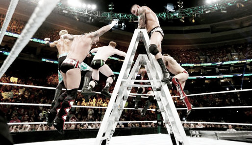 The 'All Stars' all went falling. Photo- WWE.com