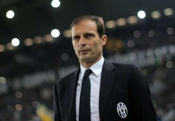 Allegri looks on during a match | Photo: goal.com