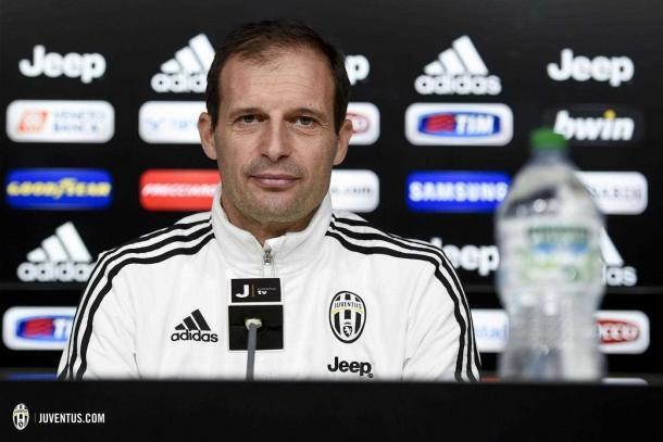 Allegri en rueda de prensa | Foto: Juventus