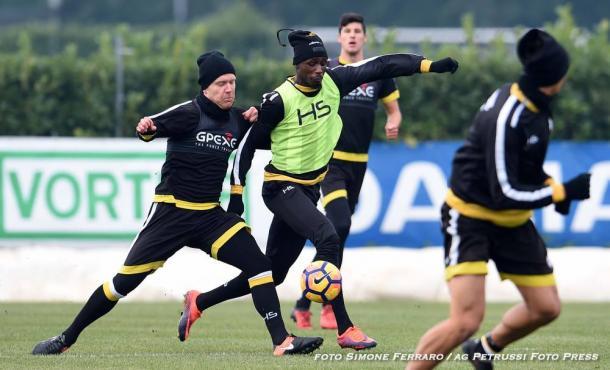 La squadra in allenamento. Fonte: www.facebook.com/UdineseCalcio1896 