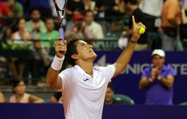 Nicolas Almagro celebrates his victory on Saturday. Photo: Argentina Open