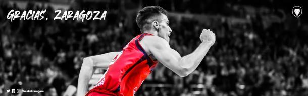 Basket Zaragoza agradece a Alocén su entrega y trabajo | Foto: @BasketZaragoza