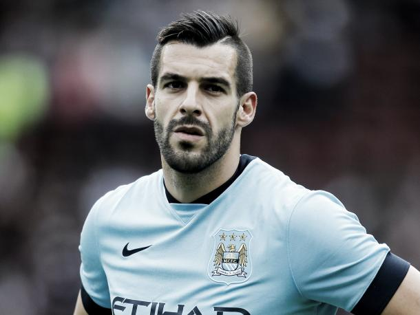 Negredo won the league with Manchester City in 2014. Photo: The independent