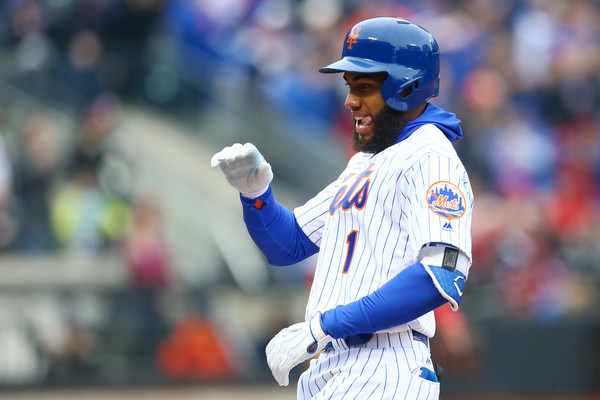 Rosario reacts after driving in two runs in the bottom of the fifth inning/Photo: Mike Stobe/Getty Images