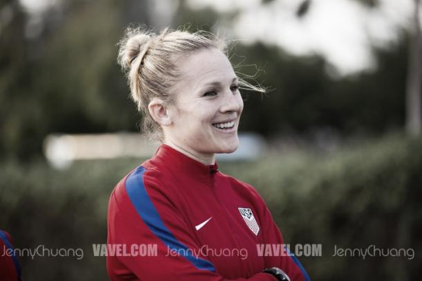 Amy Rodriguez is back with the USWNT | Source: Jenny Chuang - VAVEL USA