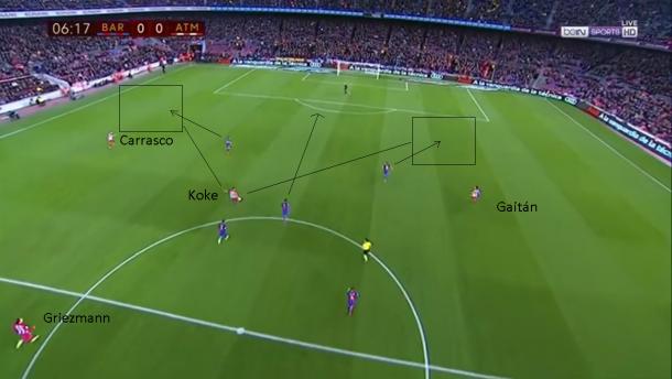 Contraataque del Atlético de Madrid dirigido por Koke   Imagen: Pablo R.R - footballmatchesandshws.com