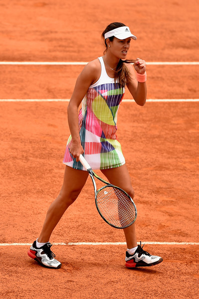 Ana Ivanovic celebrating a point at the Internazionali BNL d'Italia.| Photo: Dennis Grombkowski/Getty Images