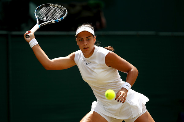 Ana Konjuh in action during the match | Photo: Julian Finney/Getty Images Europe