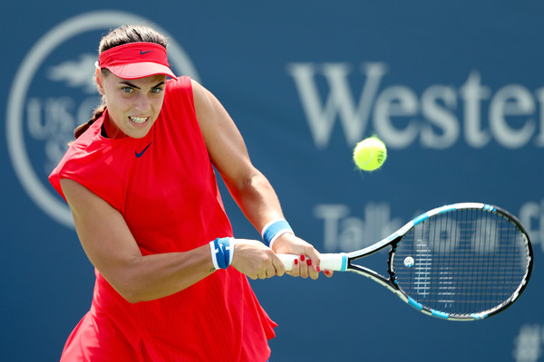 Ana Konjuh in action at the Western and Southern Open | Photo: Matthew Stockman/Getty Images Europe