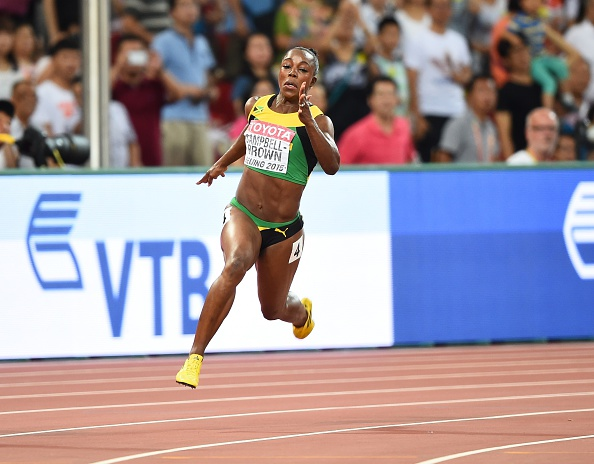 Veronica Campbell-Brown at the World Championships last season (Getty/Anadolu Agency)