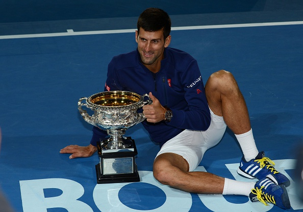 Djokovic claimed a record-tying sixth Australian Open title by defeating Andy Murray. Credit: Anadolu Agency/Getty Images