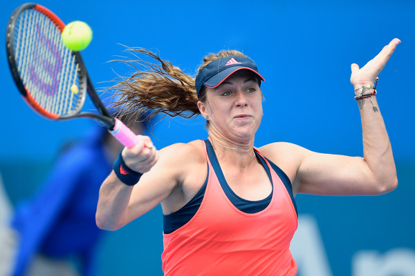 Anastasia Pavlyuchenkova in action at the Sydney International | Photo: Brett Hemmings/Getty Images AsiaPac