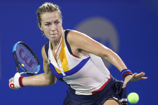 Anastasia Pavlyuchenkova in action at the 2017 Wuhan Open | Photo: Yifan Ding/Getty Images AsiaPac