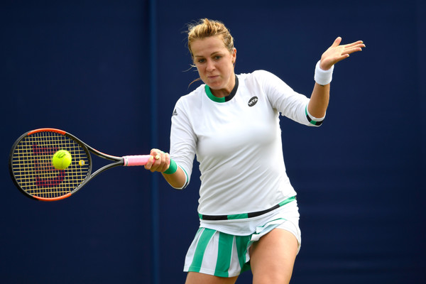 Anastasia Pavlyuchenkova hits a forehand at the recent Aegon International | Photo: Mike Hewitt/Getty Images Europe