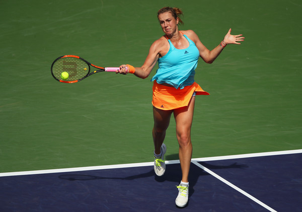 Anastasia Pavlyuchenkova in action at the BNP Paribas Open, where she reached the quarterfinals | Photo: Clive Brunskill/Getty Images North America