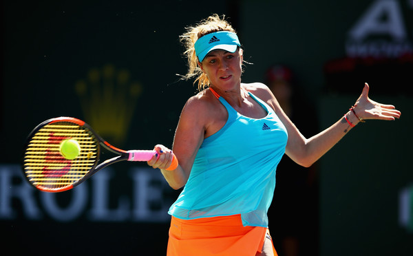 Anastasia Pavlyuchenkova in action at the BNP Paribas Open | Photo: Clive Brunskill/Getty Images North America
