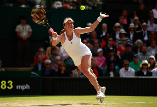 Anastasia Pavlyuchenkova returns a serve at the Wimbledon Championships last year | Photo: Adam Pretty/Getty Images Europe