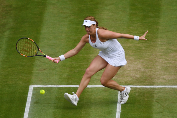 Anastasia Pavlyuchenkova hits a volley at last year's Wimbledon Championships | Photo: Shaun Botterill/Getty Images Europe