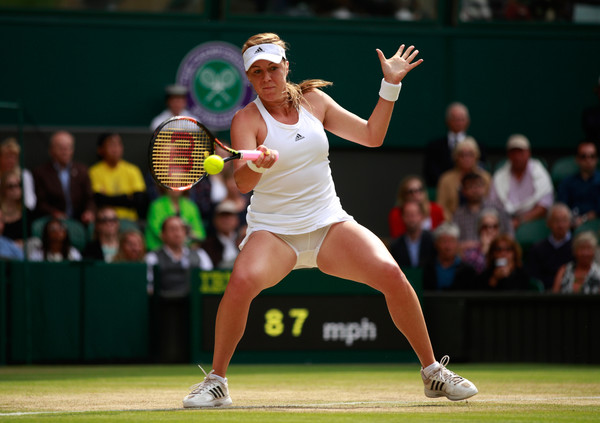 Anastasia Pavlyuchenkova in action against Serena Williams at Wimbledon last year | Photo: Adam Pretty/Getty Images Europe