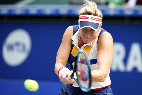 Anastasia Pavlyuchenkova in action at the Toray Pan Pacific Open | Photo: Koji Watanabe/Getty Images AsiaPac