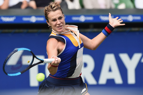 Anastasia Pavlyuchenkova hits a forehand | Photo: Matt Roberts/Getty Images AsiaPac