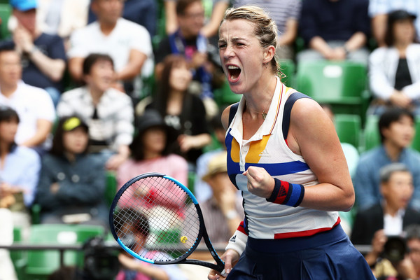 Anastasia Pavlyuchenkova exclaims after match point | Photo: Koji Watanabe/Getty Images AsiaPac