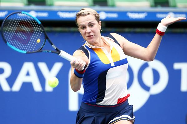Anastasia Pavlyuchenkova hits a forehand | Photo: Koji Watanabe/Getty Images AsiaPac