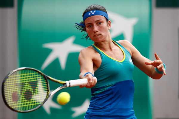 Anastasija Sevastova hits a forehand | Photo: Adam Pretty/Getty Images Europe