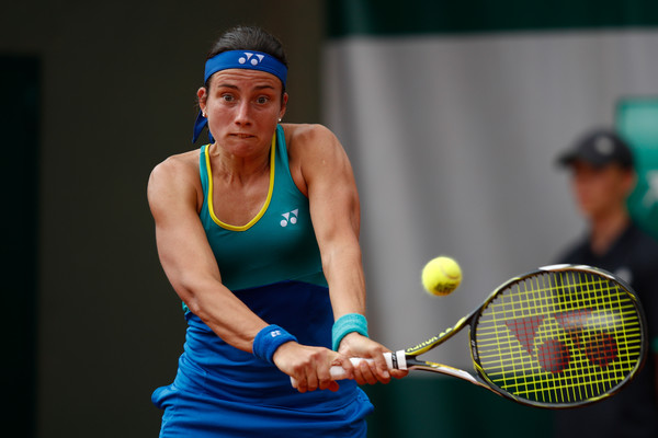 Anastasija Sevastova hits a backhand | Photo: Adam Pretty/Getty Images Europe