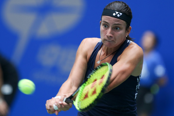 Anastasija Sevastova in action at the Wuhan Open | Photo: Yifan Ding/Getty Images AsiaPac