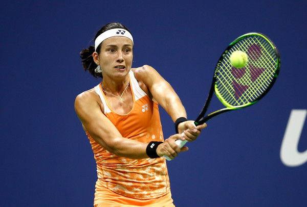 Anastasija Sevastova during the biggest match of her career at the US Open | Photo: Julian Finney/Getty Images North America