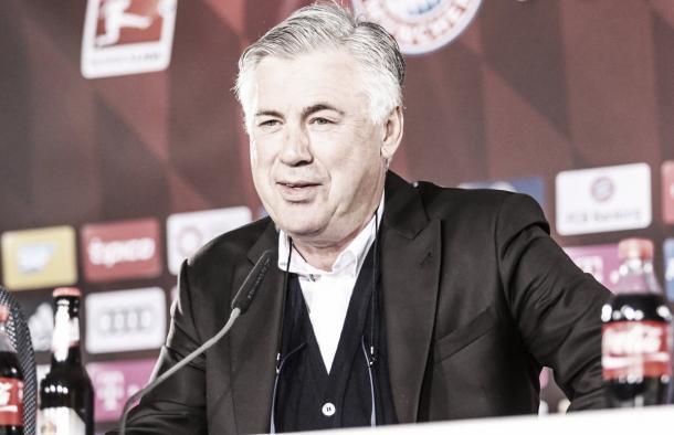 Ancelotti en la rueda de prensa pre-partido. Foto: Bayern