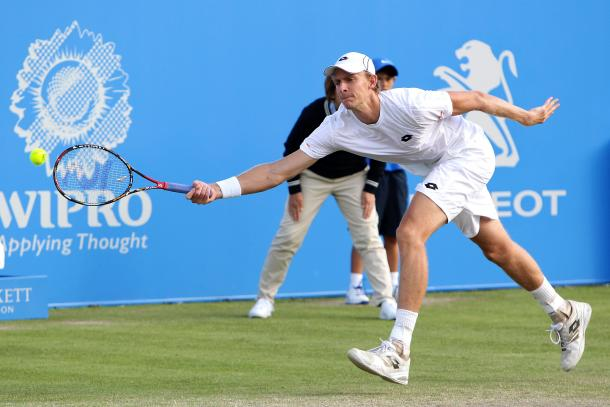 Anderson came through a tough test in his first appearance in Nottingham since 2013. Photo: Getty