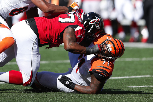 Ra'Shede Hageman is becoming a force on the Falcons' pass rush | Source: Joe Robbins/Getty Images North America