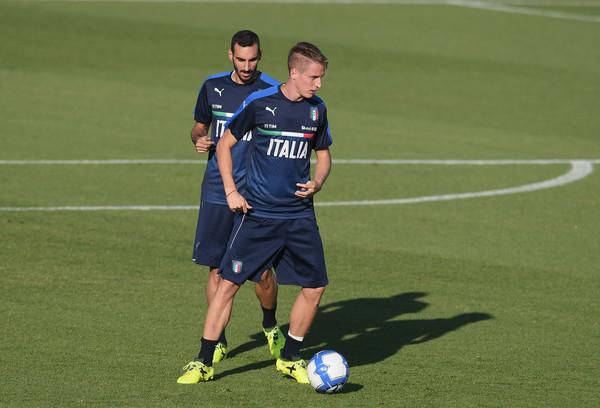 Conti en un entrenamiento con la selección en esta temporada // Fuente: Getty Images