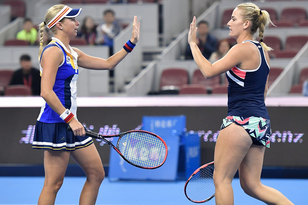 Babos and Hlavackova experienced a successful 2017, claiming five titles in just six months | Photo: Etienne Oliveau/Getty Images AsiaPac