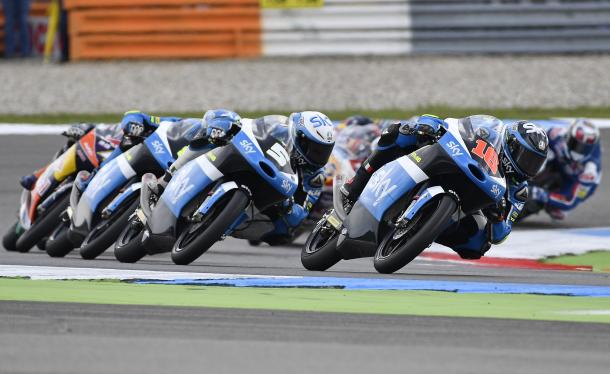 Formation riding from Sky Racing VR46, Migno led, Fenati second, Bulega third - www.ninjette.org