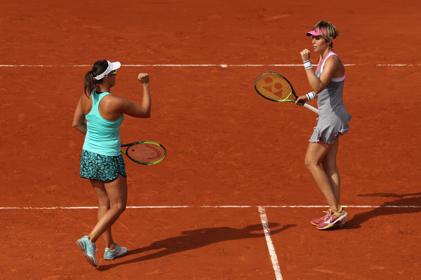 Klepac and Martinez Sanchez celebrate their win over the Williams sisters | Photo: Matthew Stockman/Getty Images Europe