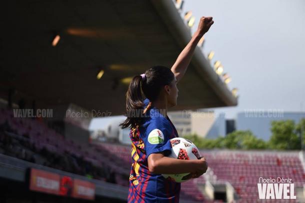 Andressa Alves, jugadora del FC Barcelona. FOTO: Noelia Déniz