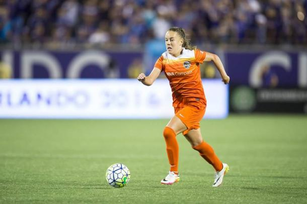 Players such as Andressa Machry will need to step up and fill the void while Carli Lloyd is out injured | courtesy Houston Dash Facebook page