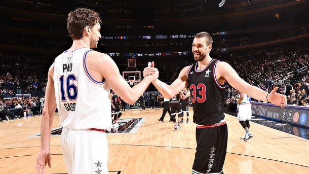 Marc y Pau han conseguido la gloria y respeto ahí por donde han ido. | Fotografía: Andrew D. Bernstein / NBAE / Getty Images