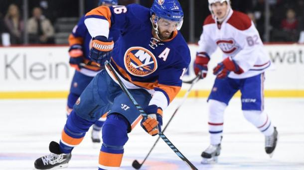 Andrew Ladd in action for the New York Islanders. | Photo Credit: Kathleen Malone-Van Dyke