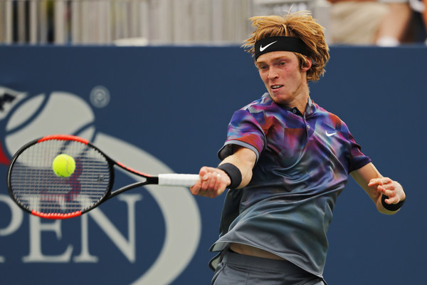 Andrey Rublev is through to the third round of a Grand Slam for the first time in his career | Photo: Elsa/Getty Images North America