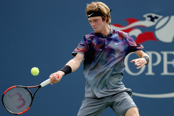 Andrey Rublev played a great match today | Photo: Elsa/Getty Images North America