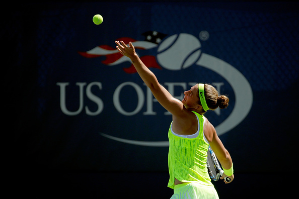 Sara Errani, pictured at the US Open, must try to defend her weak serve (Getty/Andy Lyons)