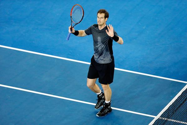 Andy Murray celebrando la victoria ante el público   Foto: Zimbio