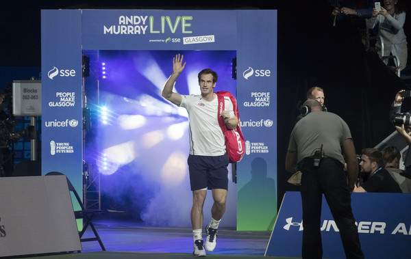 Murray takes to the court during last year's event (Photo by Steve Welsh/Getty Images)